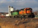BNSF SD40-2 #1844 Switching Kelker