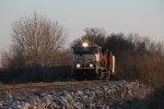 BNSF 9627 leads a empty coal nb.