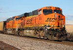 BNSF 5836 leads a coal load south.