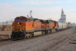 BNSF 4790 leads the local back north at old monroe.