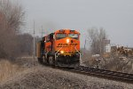 BNSF 6073 leads a coal load south at old monroe.