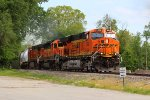 BNSF 6438 very nice set of power with a ex sd40-2