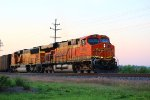 BNSF 6208 leads a loaded ucex coal out of elsberry mo.