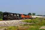 NS 8764 leads the galmem sb out of old monroe mo.
