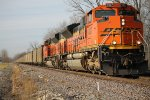 BNSF 9327 leads a coal load sb at mp 86.