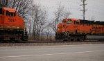 BNSF 5847 meets 6095.