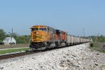 BNSF 8845 is a mid day coal load,