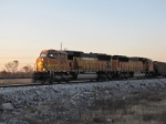 BNSF 9871 heads south after meeting bnsf 8861