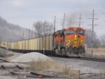 BNSF 5726 dpu of a coal train.
