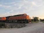BNSF 6079 rolling north with a coal.