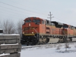 BNSF 9228 is the 2nd coal train north/ timetable east.