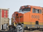 BNSF 6069 is showing how cold it was.