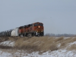 BNSF 7253 heads south to met a freight at elsberry.