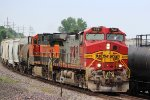 BNSF 768 leads the local south at old monroe mo.