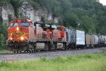 BNSF 4137 leads this mixed junk freight sb at Foley mo.