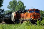 BNSF 7279 leads a ethanol train past old monroe mo.