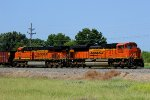 BNSF 9236 leads this ore train sb out of elsberry mo.