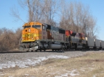 BNSF 8901 with kcs unit 2nd