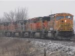 BNSF 9970 is part of the 8 unit coal empty at old monroe.