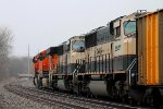 BNSF 9698 is part of the 5 unit coal.
