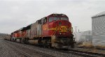 BNSF 8249 sits in the siding crewless.