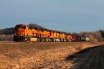 BNSF 6727 leads a 5 unit local north for west quincey