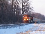 BNSF 5996 leads a coal load south,
