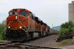 BNSF 6274 hauls empty coal across the kcs diamond.