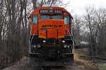 BNSF 2002 is on the cosgrove turn.