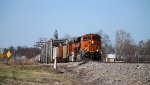 BNSF 6846 runs the local out of old monroe.