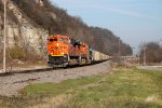 BNSF 9206 leads a large coal train sb at foley.