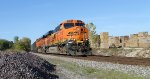 BNSF 5787 leads ore train south,