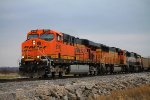BNSF 6196 takes empty slc nb with a good crew.