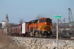 Bnsf 634 leads the local south.