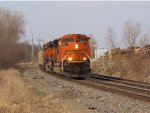 BNSF 9231 heads up a coal load.