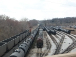 southbound coal drag in yard