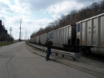 my brother photographing the coal unit train