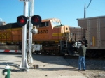 BNSF 8870 passing the crossing