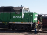 BNSF 1534 and switchman