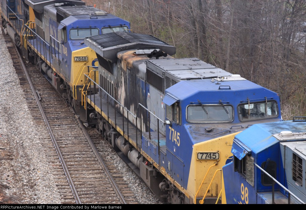 Yikes!! CSX 7745 looks a tad bit blistered
