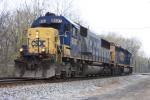CSX 8507 leads the B213 helper set up the OML to shove a coal train