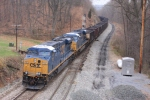 CSX 702 and the U884 arrive at West East Plane