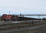 Cp Coal empties awaiting a crew
