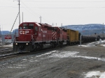 CP 5990 leads a CWR(continous welded rail train) into Thunder Bay
