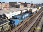 Closeup of ex Conrail 8353 on NS train 21k
