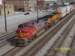 BNSF 756 leads NS train 219 southbound