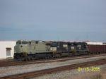 NS Ballast train 921 creeps slowly south waiting on signal