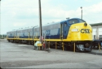 CSX 118, 119 and 117 fresh from the paint shop