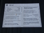 NS 7709's Emission Control Info. & Builder's Plate