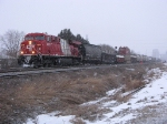 CP 8872 in morning flurries